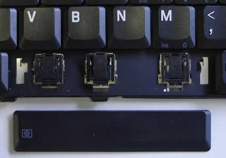 how to put a key back on a dell laptop